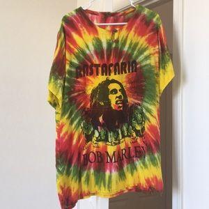Vintage Bob marley Hippie henley